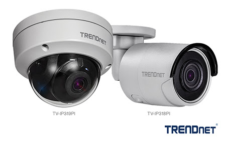 TRENDnet 4K PoE cameras with covert IR design and smart night vision technology now available