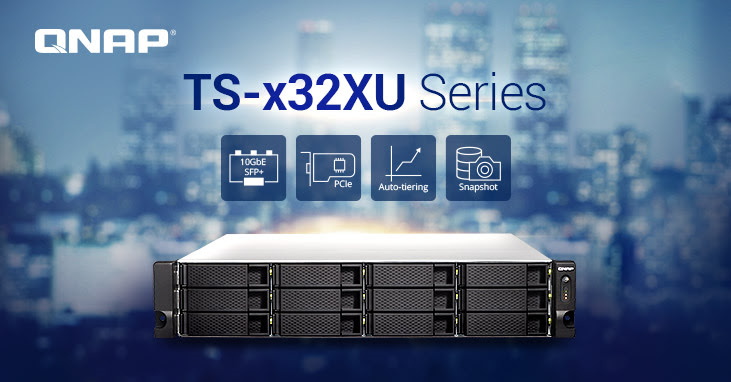 QNAP Renews Its Versatile SMB Entry Rackmount NAS Series with the TS-x32XU